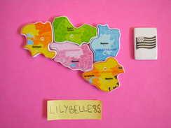 Serie Complète De 6 Feves PERSO En Porcelaine - PUZZLE MALEUVRE 2012 - ( Feve ) - Regions