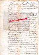 79 PAMPROUX-LUSIGNAN-LA MOTHE ST HERAYE-CONTRAT AFFERMAGE 4 MAI 1809 ENTRE DANIEL BERNARD GENDARME ET ETIENNE PORTERON - Historical Documents