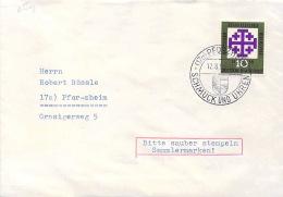 Bund  Michel #  314  Brief  Mit SST  Schmuck Und Uhren  Pforzheim - Orologeria