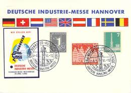 Bund   Deutsche Industrie-Messe  Hannover  1956  Sonderpostkarte - Cinderellas