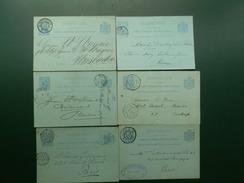BAK IV/LOT71   6 BRIEFKAARTEN - Interi Postali