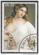 """974 S. Tomè E Principe 1990 """" Flora """" Quadro Dipinto Da Tiziano Vecellio Titian Nuovo MNH Painting Tableau - Nus"""