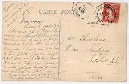 Convoyeur EPINAL A CHAUMONT Sur CP De NANCY. - Marcophilie (Lettres)