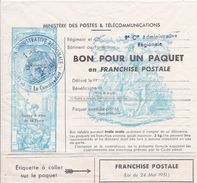 FRANCE - FM 14C  BON POUR PAQUET 6 LIGNES LEGENDE POSTES ET TELEC. SANS LA MENTION COTE 150 EUR RARE - Franchise Stamps