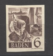 Baden,14 Ungezähnt,xx  (5290) - Französische Zone