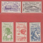1935 ** Thule  (sans Charn., MNH, Postfrish)  Yv 1/5  Mi 1/5 - Thule