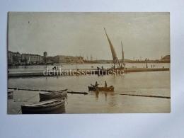 POLA ISTRIA Vecchia Cartolina Molo Barca Vela - Croazia
