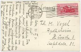 VIRGILIO 75 C. Isolato Su Cartolina Da Roma Per La Svizzera. Sass. 287 - Storia Postale