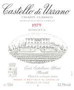 1194 - Italie - Toscane - 1979 - Chianti Classico Riserva -  Castello Di Uzzano - Greve In Chianti - Rode Wijn