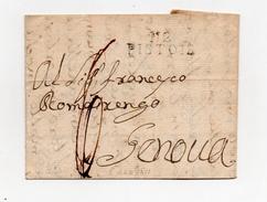!!! PRIX FIXE : DEPT CONQUIS, 112 ARNO, MARQUE POSTALE DE PISTOIE SUR LETTRE DE 1811 - Postmark Collection (Covers)