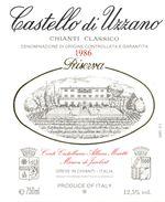 1196 - Italie - Toscane - 1986 - Chianti Classico Riserva -  Castello Di Uzzano - Greve In Chianti - Rode Wijn