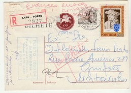 Postal Stationery * Portugal * 1974 * Registered * Devolvido Ao Remetente * Taxas Adicionais * Lapa * Porto - Interi Postali