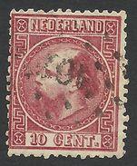Netherlands, 10 C. 1867, Sc # 8, Mi # 8IIC, Used. - Period 1852-1890 (Willem III)