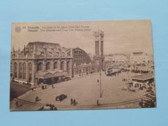 La Gare Et La Place Van Der SWEEP ( 64 ) Anno 1933 ( Zie Foto Details ) !! - Oostende