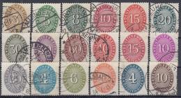 DR  Dienst 114-131, Gestempelt, 1927/33 - Dienstzegels