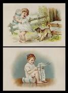 2 CHROMOS Chocolat Besnier - Enfants - Impr. Coez- 130x90 Mm - Chromos