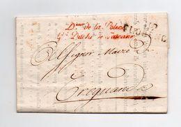 !!! PRIX FIXE : DEPT CONQUIS, 112 ARNO, MARQUE POSTALE DE FLORENCE SUR LETTRE DU DIRECTEUR DE LA POLICE DE 1813 - Postmark Collection (Covers)