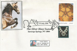 USA. The Silver Blaze Station, Enveloppe Souvenir De Saratoga Springs, New-York  2006 - Horses