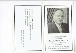 DP 2736 JOSEPH BAELEN - WERVIK 1907 + 1966 - Imágenes Religiosas