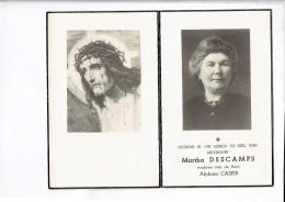 DP 2740  MARTHA DESCAMPS -  WERVIK 1890 + 1962 - Imágenes Religiosas