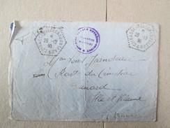 LETTRE AVEC CACHET CUIRASSE WALDECK ROUSSEAU 1930  ARRIVE DINART 25 1 1931 . RARE - Storia Postale