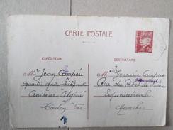 ENTIER POSTAL AVEC CACHET CROISEUR ALGERIE 1942 . PEU AVANT SON SABORDAGE - Entiers Postaux