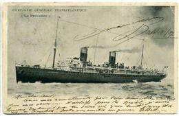 """Compagnie Générale Transatlantique - """"La Provence"""" - Dampfer"""