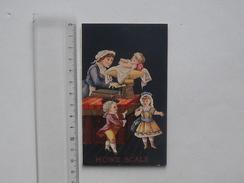 CHROMO Grand Format HOWE SCALE: BALANCE - FILLETTE Poids Bébé Nounou Douane - RUTLAND VERMONT Etats-Unis D'Amérique - Trade Cards