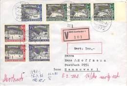 Berlin  Michel #  220/223/227/229  MiF  Auf R-Brief  + Wert 500 DM - Gebraucht