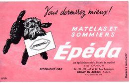 Buvard Matelas Epéda. Distribué Par Ets. Mayeur, Rue Salengro à Bruay En Artois. - Autres