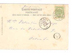 TP 56 S/CP La Panne Villa Doll Animée C.Ambulant Adinkerke-Gand 19/8/1904 V.Ostende C.d'arrivée AP1109 - Bahnpoststempel