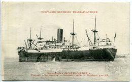"""Compagnie Générale Transatlantique - Navire-Ecole """"JACQUES-CARTIER"""" - Paquebots"""