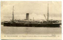 """NOS COURRIERS - Le """"Figuig"""", Courrier Du Maroc De La Cie Générale Transatlantique - Paquebots"""