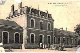CPA N°10955 - SAINT SULPICE LAURIERE - LA GARE VUE EXTERIEURE - ABIMEE - France