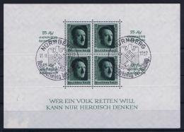 Deutsche Reich: Block Nr 11 1937 Mit Sonderstempel Papier Auf Rück - Blocks & Kleinbögen
