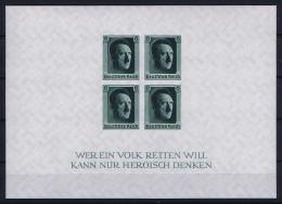 Deutsche Reich: Block Nr 8 1937 MNH/**/postfrisch/neuf Sans Charniere - Blocks & Kleinbögen