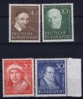 Bundespost: Mi Nr 143 - 146 Postfrisch/neuf Sans Charniere /MNH/** 1951 - Ungebraucht