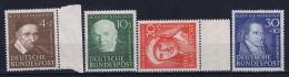 Bundespost: Mi Nr 143 - 146 Not Used (*) SG 1951 - Ungebraucht