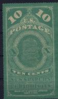 USA Newspaper  Stamp Sc PR2 B   Mi Nr 2  Not Used (*) SG  Pelure Paper - Newspaper & Periodical