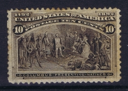USA  Sc Nr 237  Mi Nr 80 MH/* Falz/ Charniere 1893 Spots In Gum - 1847-99 General Issues