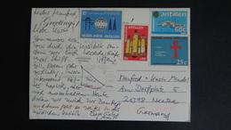 Netherlands Antilles - 1963/65/80/84 - Mi:AN 129,148,410,530 - Yt:AN 320,339,597,717 On Postcard- Look Scan - Antillen