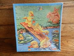 PUZZLE ANCIEN EN BOIS CANARD COCHON - Puzzle Games
