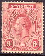 ST.VINCENT 1927 SG #137 6d Used Wmk Mult.Script CA - St.Vincent (...-1979)