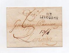 !!! PRIX FIXE: DEPT CONQUIS, 113 MEDITERRANEE, MARQUE POSTALE DE LIVOURNE SUR LETTRE DE 1810 - Postmark Collection (Covers)