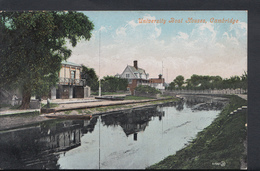 Cambridgeshire Postcard - University Boat Houses, Cambridge  DC695 - Cambridge