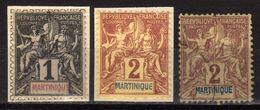 MARTINIQUE 1892 - MiNr: 26+27 Allegorie Used - Martinique (1886-1947)