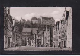 Photokarte Landshut In Bayern - Neustadt Mit Blick Zur Burg Trausnitz  1954 - Landshut