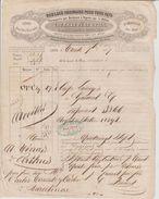 Roulage Courrat Lyon 1849 Transport Caisse De Lainages Pour Le Perthus Via Toulouse Cachet Fiscal Dos - Transports
