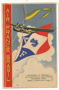 "Advert "" Air France Brasil "" Centenario Travessia Atlantico Used Harmonia Montenegro 1937 To Cuba Hydravion Seaplane - Brazil"