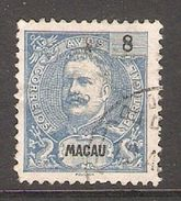 001390 Macao 1898 Carlos 8 Avos FU - Used Stamps